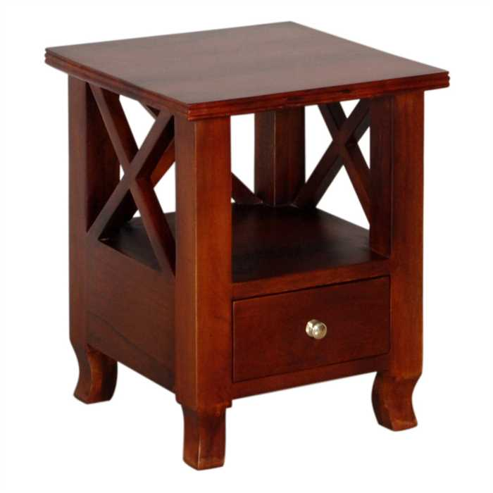 Laura Bed Side Table In Mango Wood