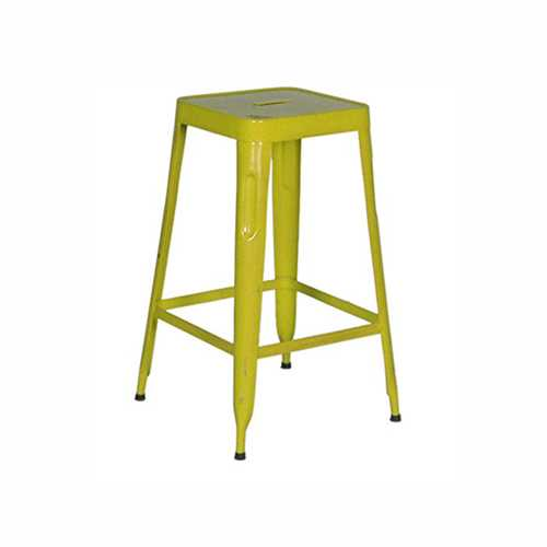 Stylo Stool In Yellow Finish