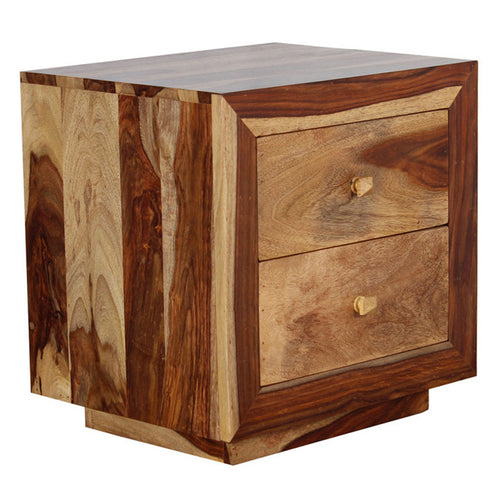 Miley Bed Side Table In Sheesham Wood