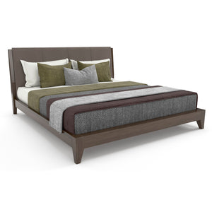 Poliform Bed In Plywood And Laminated Finish
