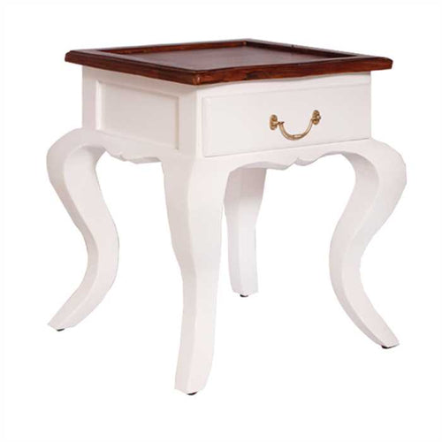 Sophie Bed Side Table In High Grade Sheesham Wood