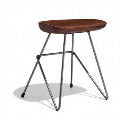 Irri Stool In Rich Solid Wood