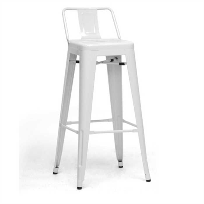 Diana Bar Chair In Mild Steel Metal White Finish