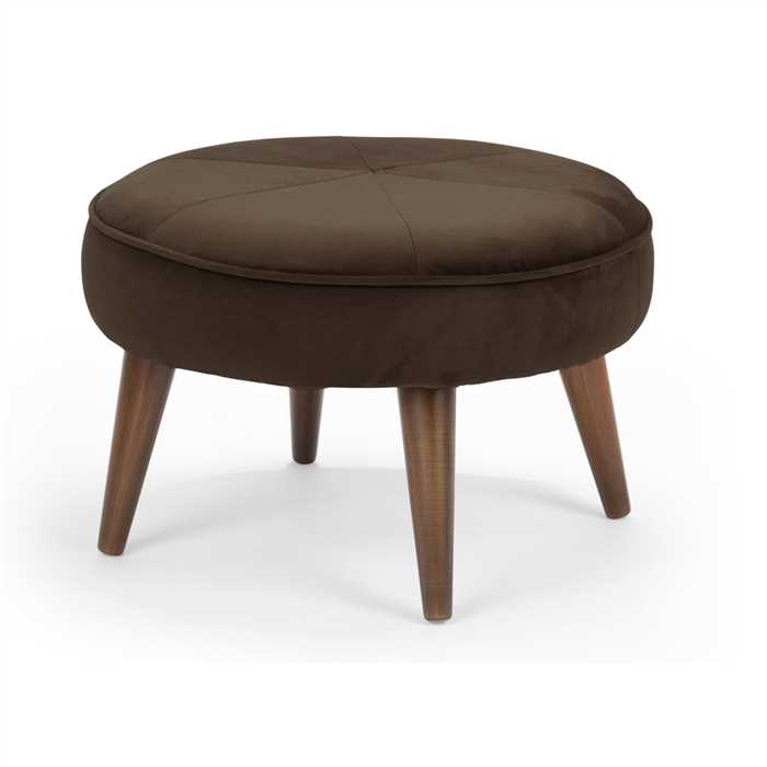 Dark Brown Fabric Pouf In Premium Finish