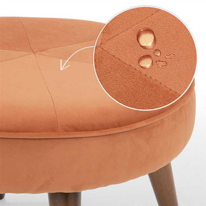Apricot Fabric Pouf In Premium Finish