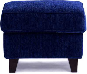 Crescent Fabric Pouf