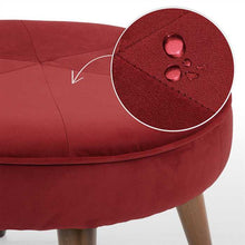 Maroon Fabric Pouf In Premium Finish