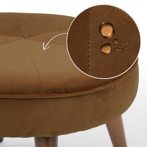 Brown Fabric Pouf In Premium Finish