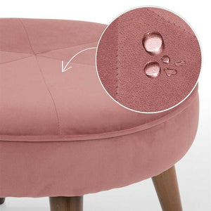 Light Coral Pouf In Premium Finish