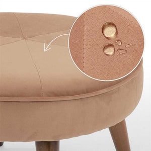 Cinnamon Fabric Pouf In Premium Finish