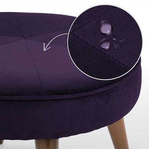 Egg Plant Fabric Pouf In Premium Finish