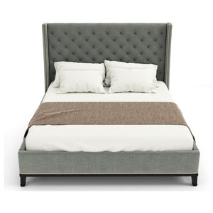 Cleo Bed In Plywood And Upholstered Premium Fabric