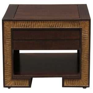 Norah Bed Side Table In Sheesham Wood
