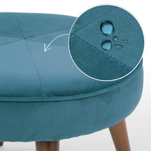 Sky Blue Fabric Pouf In Premium Finish