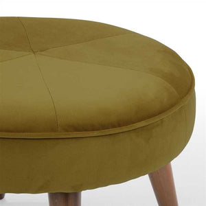 Dark Green Fabric Pouf In Premium Finish