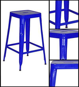 Stylo Stool In Blue Finsh