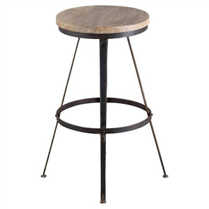 Kit Bar Stool In Mango Wood