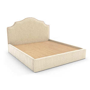 Lotus Bed In Premium Upholstered Fabric With Storage