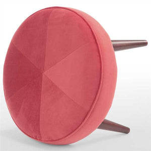 Pink Fabric Pouf In Premium Finish