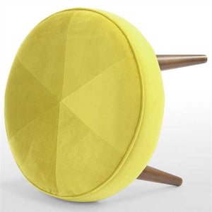Lime Green Fabric Pouf In Premium Finish