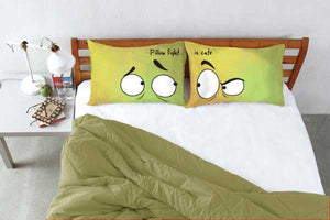 Stoa Paris Pillow Fight Eyes Right Left Pillow Cover Set