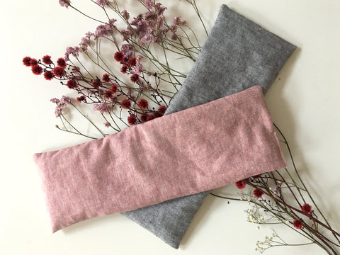 Cherry stone pillow made from recycled hemp and organic cotton