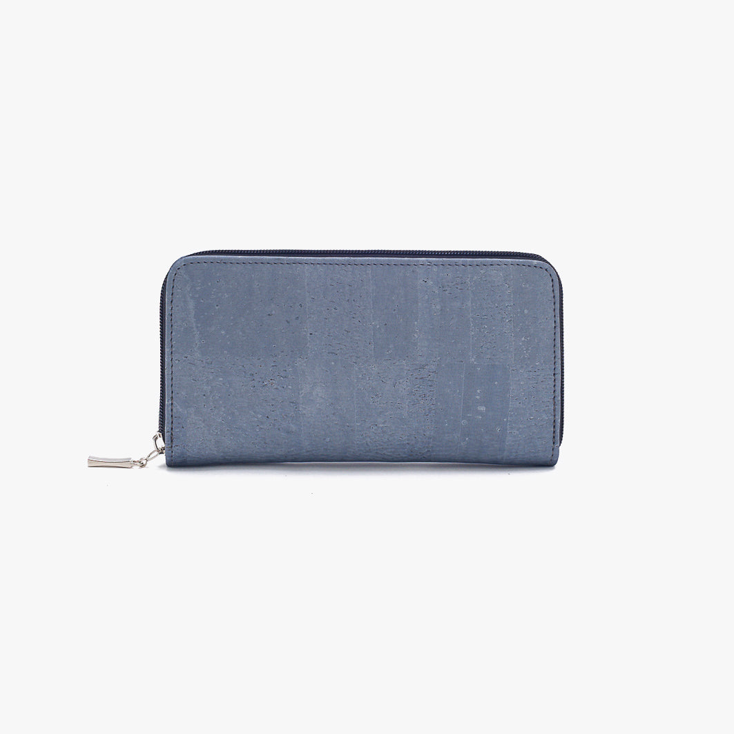 Cork wallet METALLIC BLUE