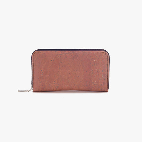 Cork wallet ROSY BROWN