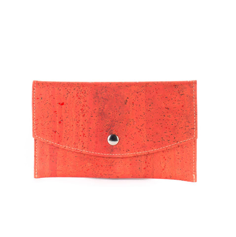 Cork envelope wallet GRAPEFRUIT