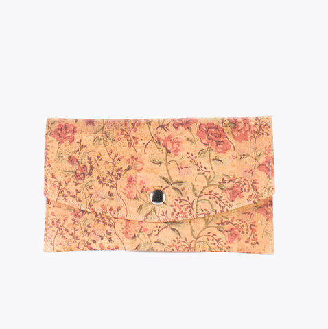 Cork envelope wallet FLORAL