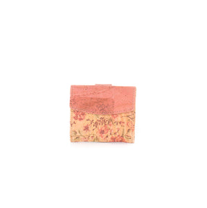 Cork mini wallet FLORAL