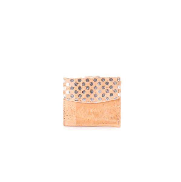 Cork mini wallet METALLIC