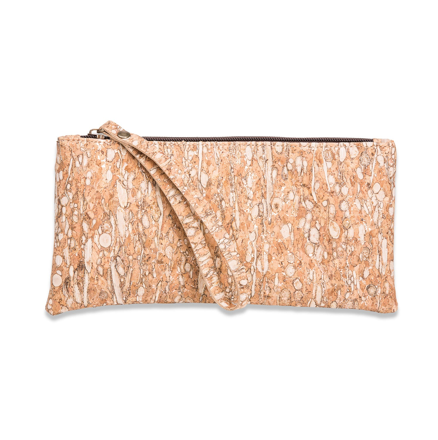 Cork wristlet purse FENNEL