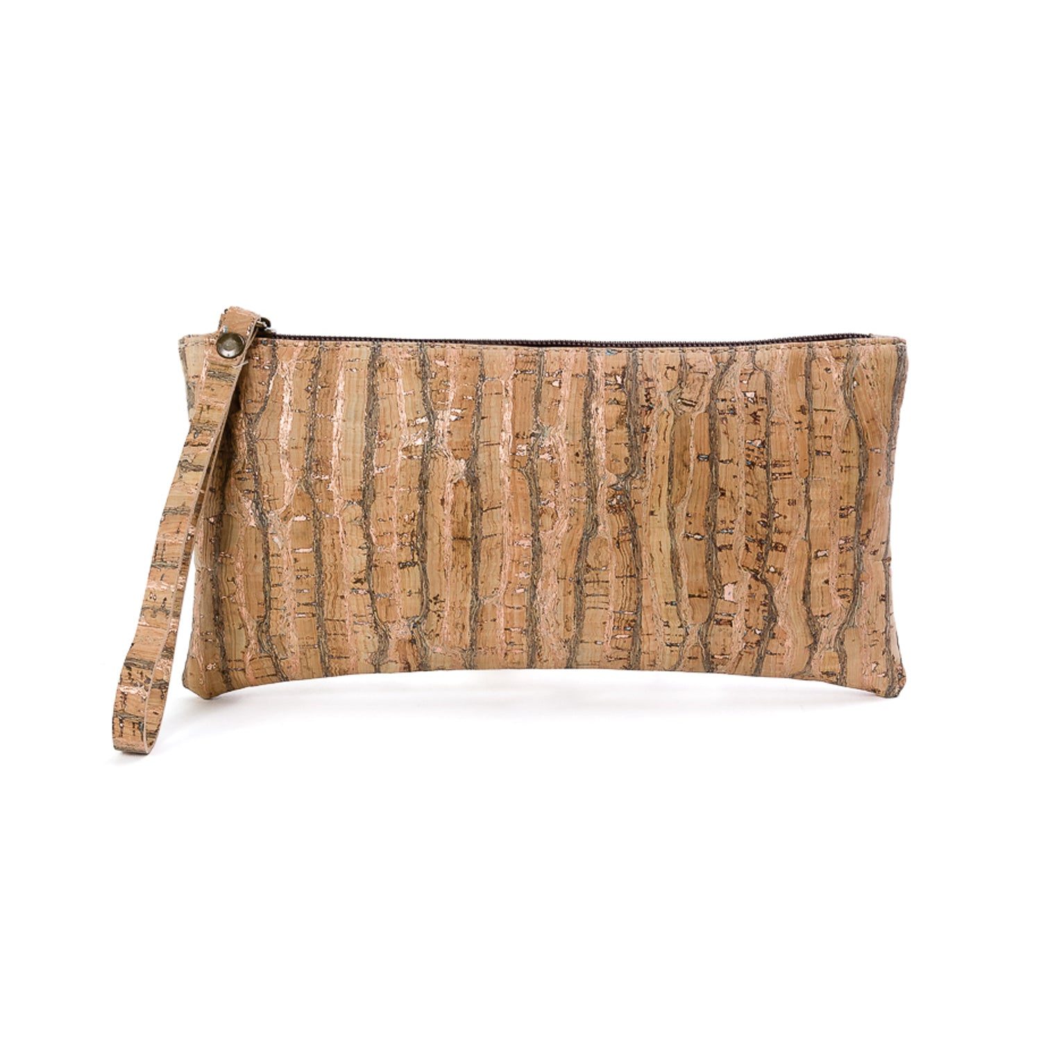 Cork wristlet purse COPPER
