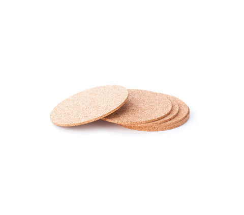 Cork coasters NATURAL