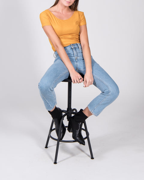 Tencel top ALOE mustard