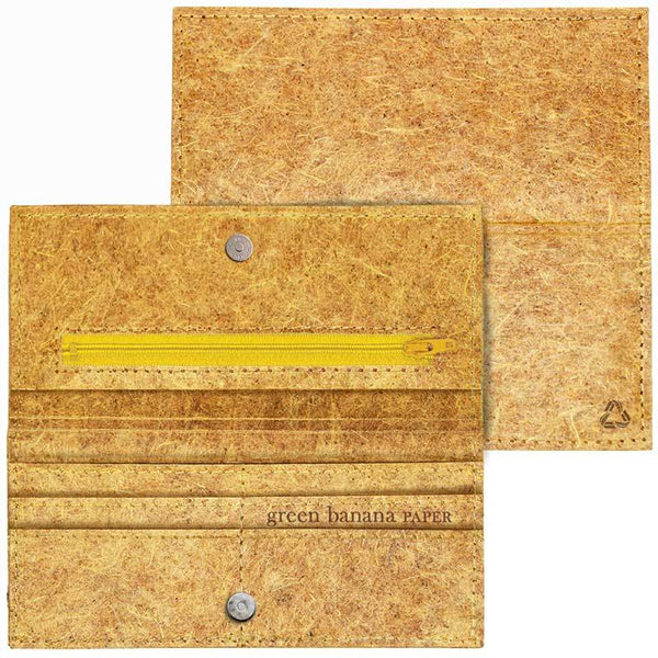 Banana fibre wallet NATURAL