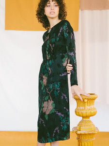 Cupro dress JACQUARD