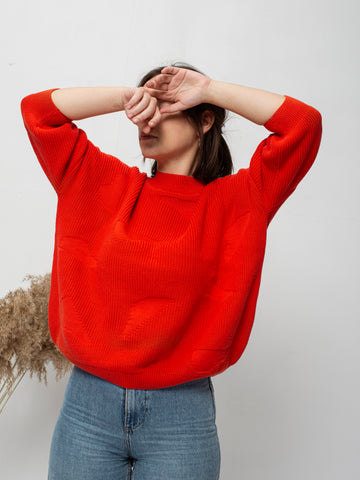 Organic cotton knit jumper NOAMI