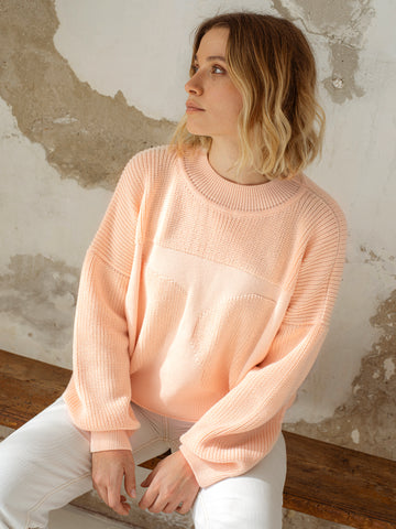 Organic cotton knit jumper MOA light