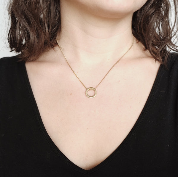 Brass necklace YONO