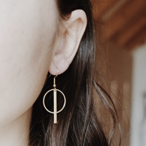 Brass earrings OKU