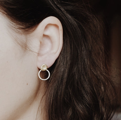 Brass earrings VIA