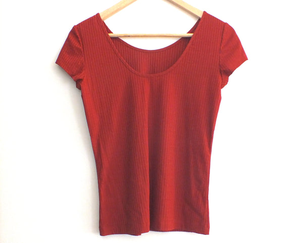 JAN 'N JUNE sustainable copper coloured ballet top | Kupferfarbenes nachhaltiges Ballerina T-Shirt aus Tencel Jersey