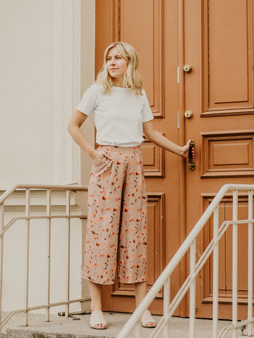 Tencel culottes POPPY FIELD