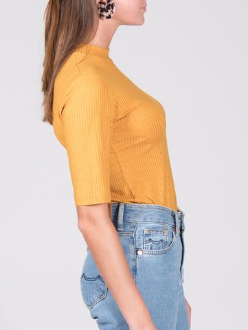 Tencel top NINA mustard