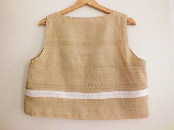 Banana fibre peace silk top natural BAKU back NAED | Bananenfaser Seiden Top beige gewaltfrei