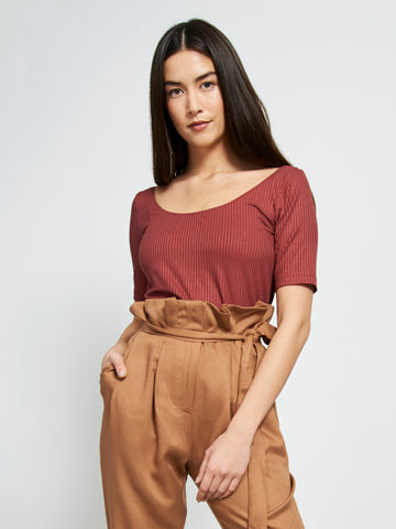 Tencel top SCOOP framboise