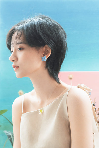 Flower earrings SKY BLUE