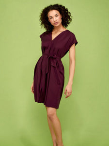Tencel dress VIOLA red